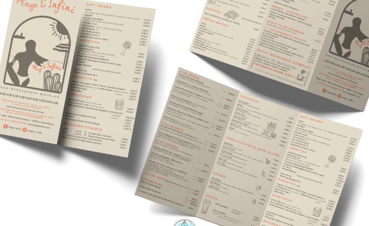 pika-com - agde - menu restaurant - graphiste agde