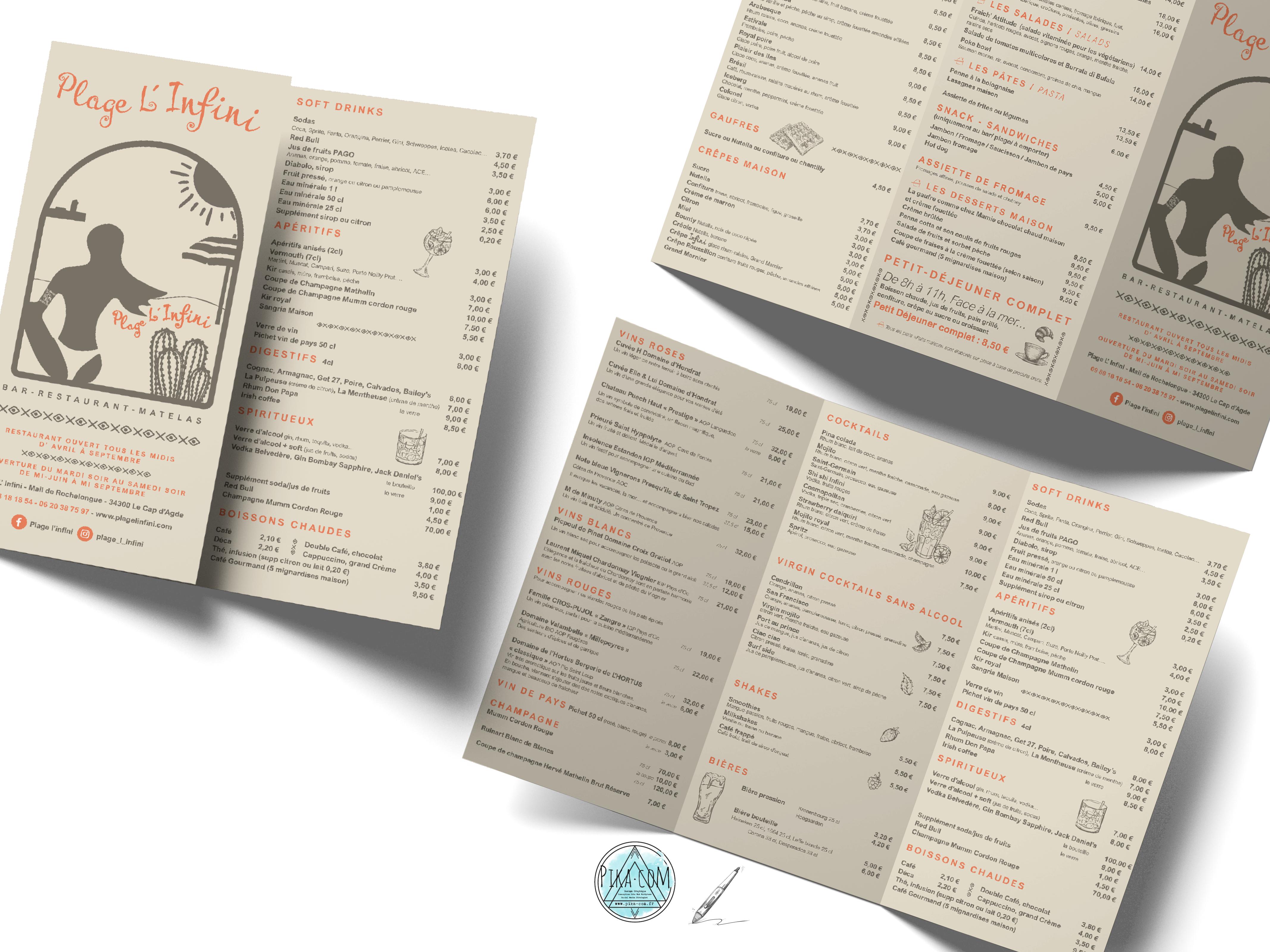 pika-com - agde - menu restaurant