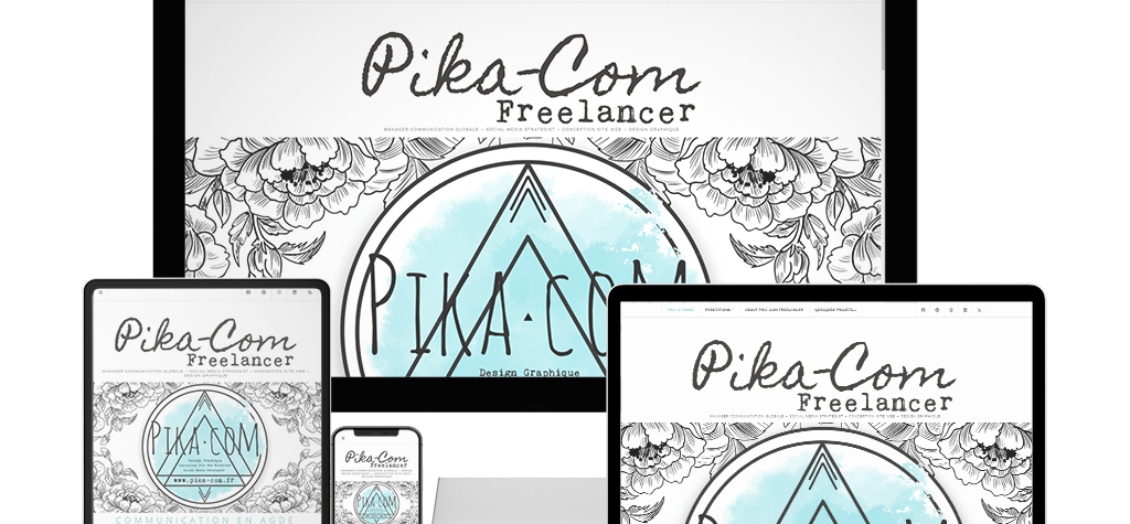conception site internet agde - agence communication - pika com freelancer